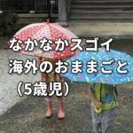 なかなかスゴイ海外のおままごと(5歳児)